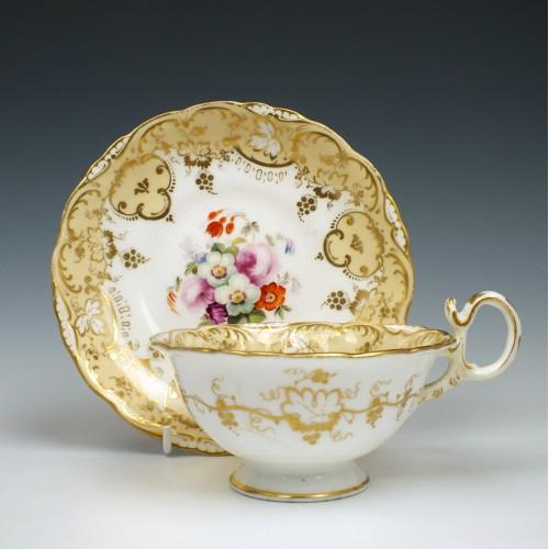 Coalport Porcelain Adelaine Shape Teacup & Saucer c1840