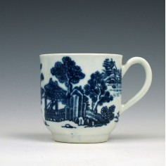 Early Worcester Man In The Pavilion Pattern Coffee Cup c1757