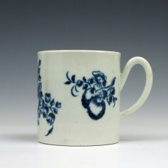 John and Jane Pennington Fruit Sprigs Pattern Coffee Can c1775