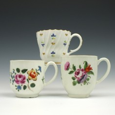 A Collection of Worcester Polychrome Coffee Cups, C1765-90