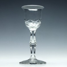18th Century Facet Cut Wine Glass c1790