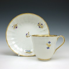 Derby Porcelain Coffee Cup and Saucer 1790
