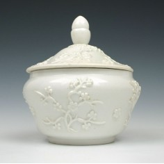 Bow Porcelain Blanc de Chine Sucrier and Cover c1751