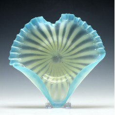 Victorian Heart Shaped Glass Dish c1880