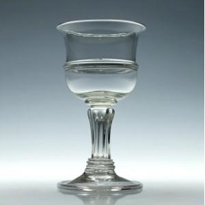 Pedestal Stem Glass Goblet c1910
