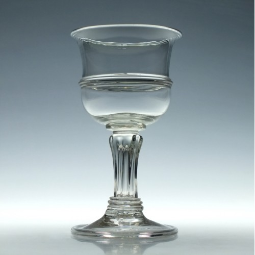 Pedestal Stem Glass Goblet c1910