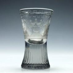 Masonic Engraved Firing Glass c1890