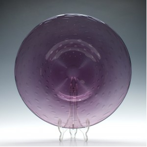 Large Whitefriars Amethyst Glass Charger c1950
