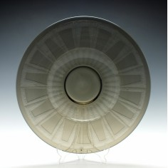 Schneider Art Deco Glass Charger c1930