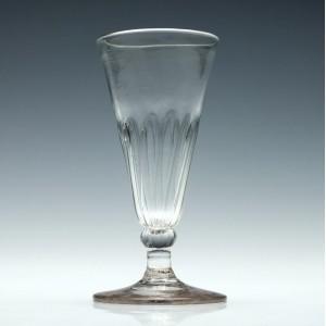Petal Moulded Ale Glass c1770