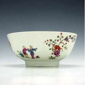 RESERVED RR- Large Worcester Chinese Family Pattern Slop Bowl c1770