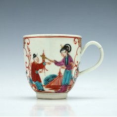 First Period Worcester Coffee Cup c1765