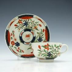 First Period Worcester Kempthorne Pattern Teacup & Saucer c1770