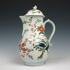 Worcester Kempthorne Pattern Coffee Pot c1780
