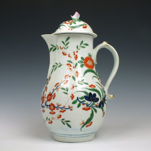 Worcester Kempthorne Pattern Coffee Pot c1780