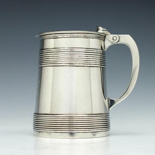 Georgian Silver Lidded Tankard London 1768