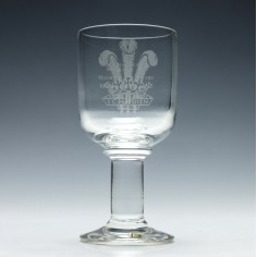 Darlington Commemorative Glass Goblet c1981