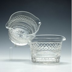 Pair of Double Lipped Cut Glass Wine Rinsers c1830