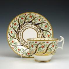 RESERVED J.B. - Swansea Porcelain Teacup & Saucer c1815