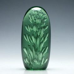 Large Victorian Green Paperweight  c1870
