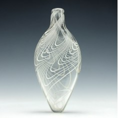 19th Century Nailsea Glass Flask c1840