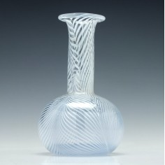 Nailsea Glass Wine Carafe c1870
