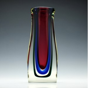 A Murano Sommerso Glass Vase