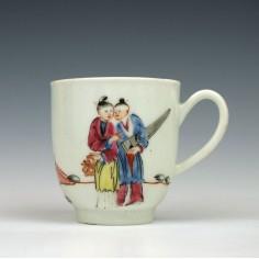 Worcester Porcelain Mandarin Coffee Cup c1770
