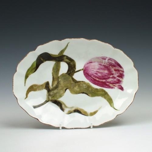 Chelsea Porcelain Botanical Oval Dish c1760