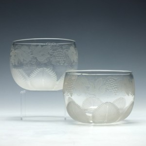 Four Victorian Finger Bowls ( Two Shown) c1860