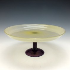 Schneider Art Glass Tazza c1920