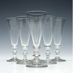 Set of Six Georgian Ale Glasses c1810
