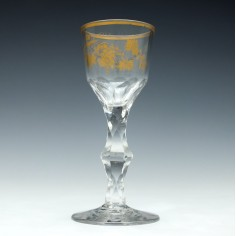 James Giles Gilded Wine Glass c1770