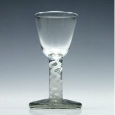 18th Century Opaque Twist Firing Glass c1760