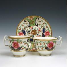 Swansea Porcelain Trio c1815