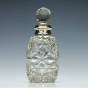 Silver Topped Perfume Bottle 1923