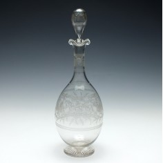 Etched Glass Decanter c1900