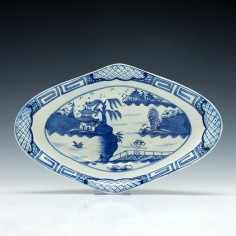 Caughley Centre Pattern Dish c1790