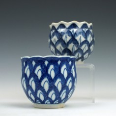 Very Rare Caughley Artichoke Cup and Chinese Example 1785-93