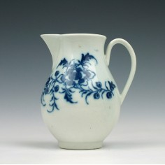 Caughley Peony Pattern Sparrow Beak  Jug  c1778-80