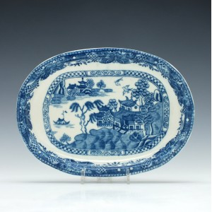 Caughley Willow Nankin Pattern Dish c1780