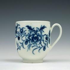 Rare Caughley Peony Pattern Coffee Cup c1776-79