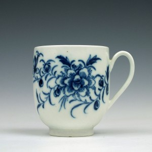 Rare Caughley Peony Pattern Coffee Cup c1776-79
