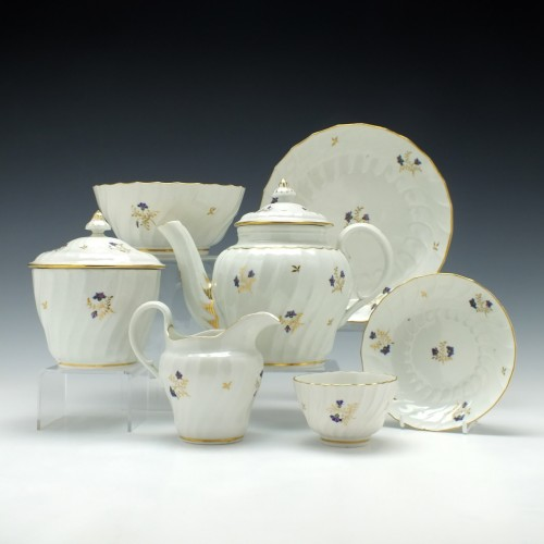 Six Persons Worcester Flight Period Tea Service c1790