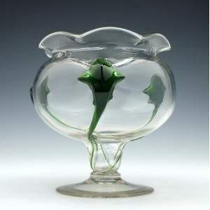 Stuart And Sons Cairngorm Glass Vase