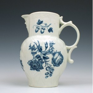 Small Size Worcester Mask Spout Jug With Unrecorded Print c1765