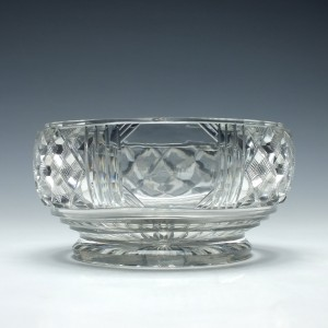 Georgian Cut Glass Serving Bowl c1830
