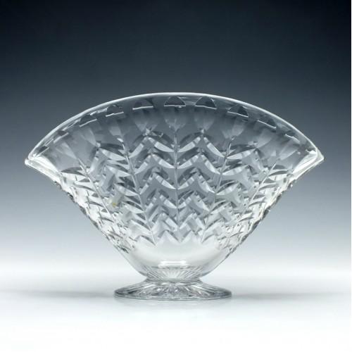 Webb Corbett Crystal Fan Vase 1930-40