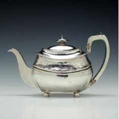 George III Silver Teapot London c1809