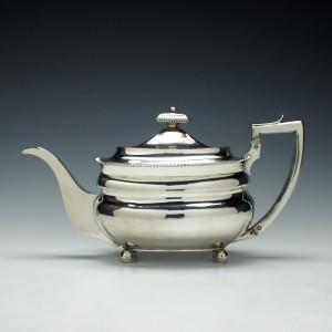 George III Silver Teapot London c1811